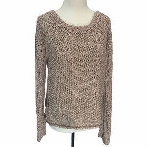 Free People 100% Cotton Sweater Blush S
